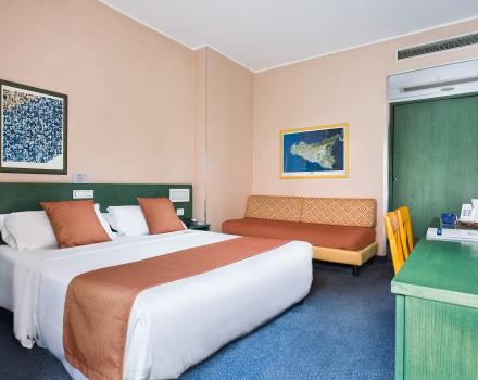 For your trip to Catania choose the comfort of the rooms of Hotel Mediterraneao